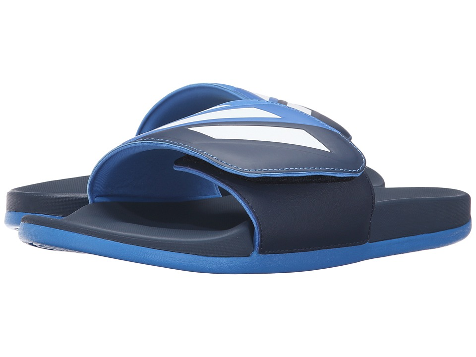 adidas - Adilette Cloudfoam Ultra Adjustable (Collegiate Navy/White/Blue) Men's Slide Shoes