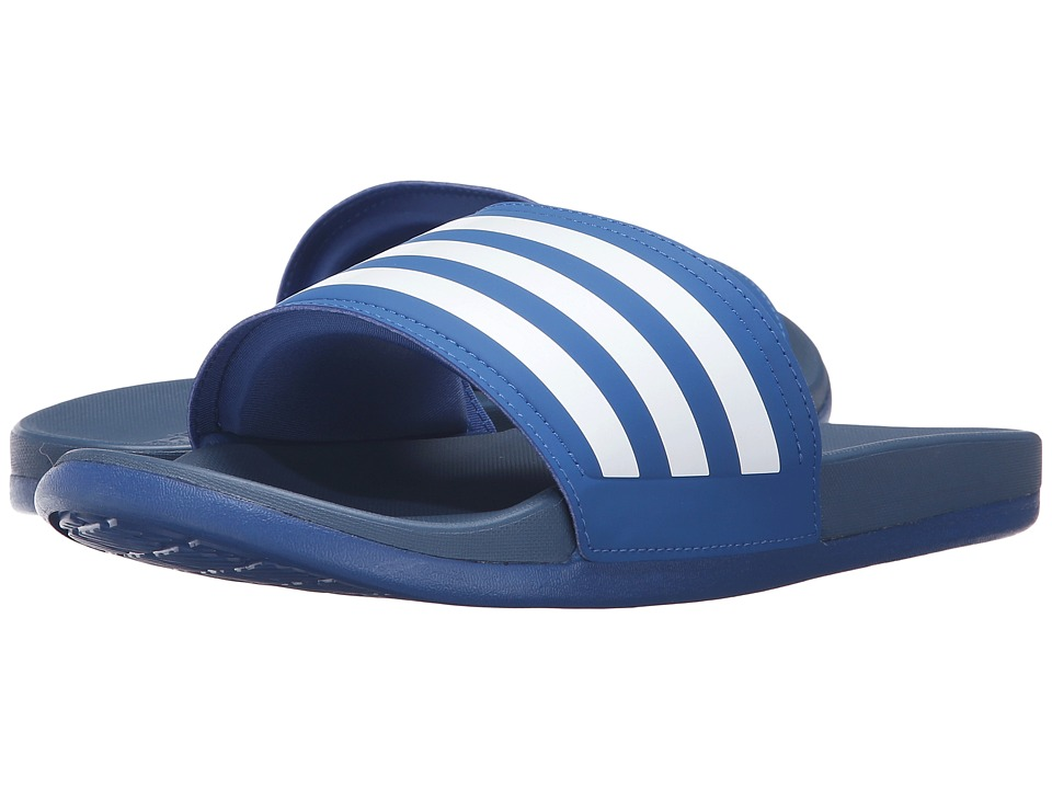 adidas - Adilette Cloudfoam Ultra (EQT Blue/White) Men's Slide Shoes