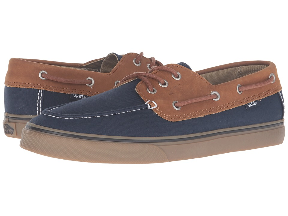 Vans - Chauffeur SF (Dark Navy/Brown) Men's Shoes