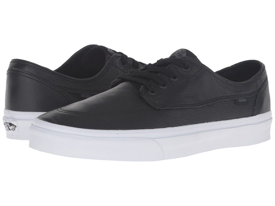 Vans - Brigata ((Premium Leather) Black/True White) Skate Shoes