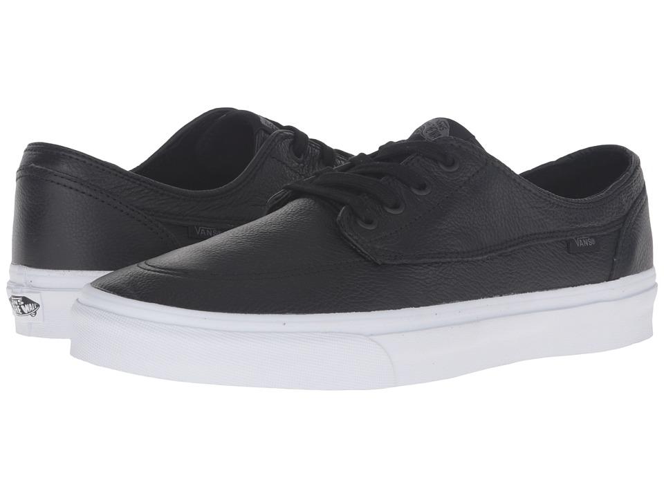 Vans - Brigata ((Premium Leather) Black/True White) Skate Shoes