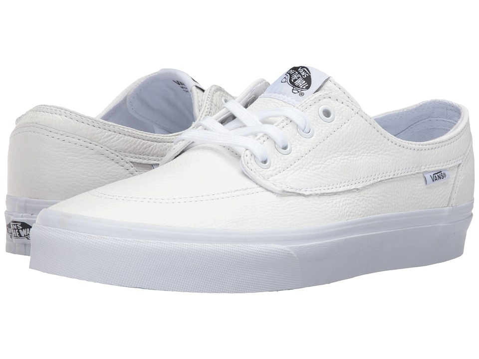 Vans - Brigata ((Premium Leather) True White) Skate Shoes