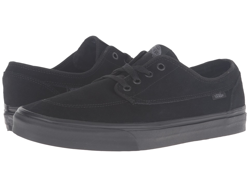 Vans - Brigata ((Suede) Black/Black) Skate Shoes