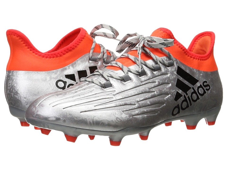 adidas - X 16.2 FG (Silver Metallic/Black/Solar Red) Men's Cleated Shoes