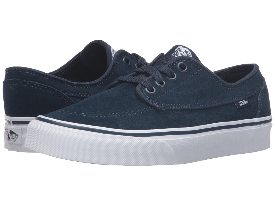 Vans - Brigata ((Suede) Dress Blues/True White) Skate Shoes