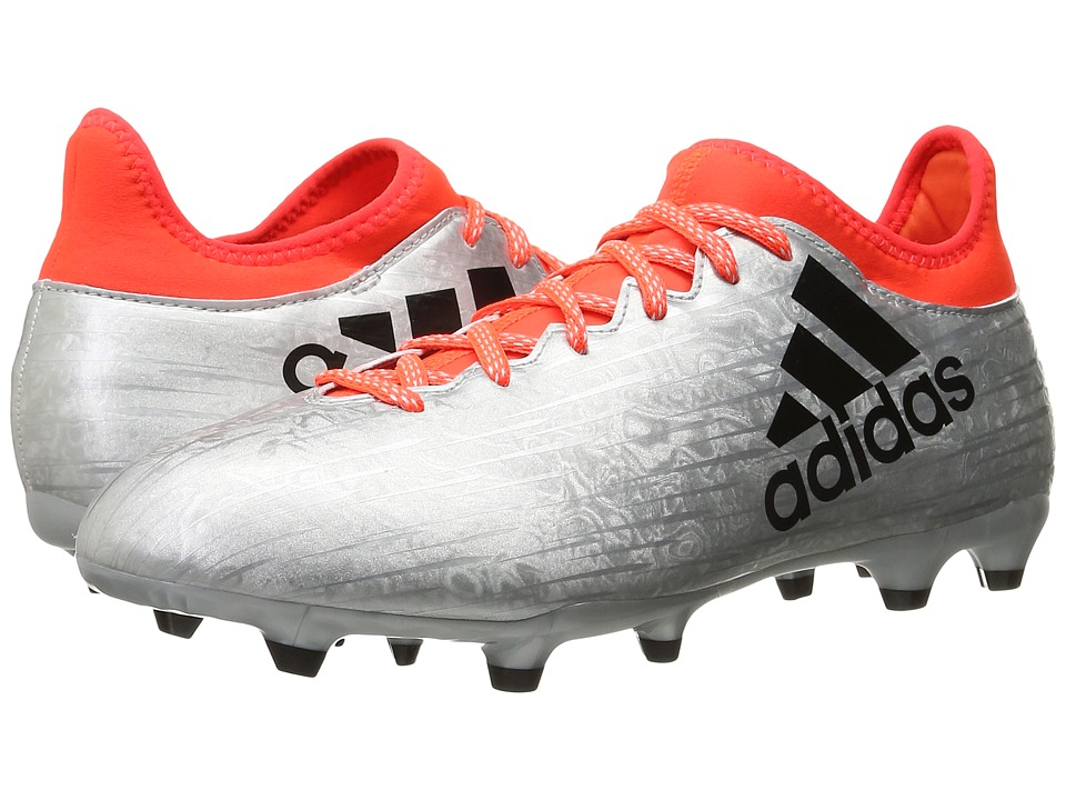 adidas - X 16.3 FG (Silver Metallic/Black/Solar Red) Men's Cleated Shoes