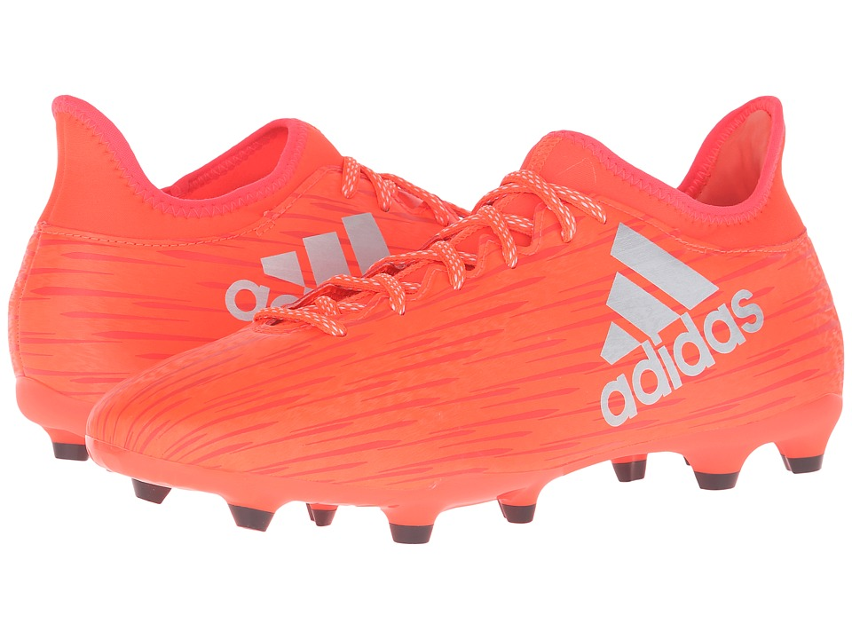 adidas - X 16.3 FG (Solar Red/Silver Metallic/Hi-Res Red) Men's Cleated Shoes