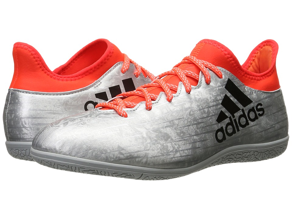 adidas - X 16.3 IN (Silver Metallic/Black/Solar Red) Men's Soccer Shoes