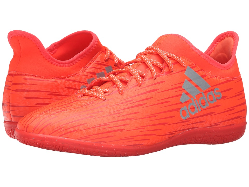 adidas - X 16.3 IN (Solar Red/Silver Metallic/Hi-Res Red) Men's Soccer Shoes
