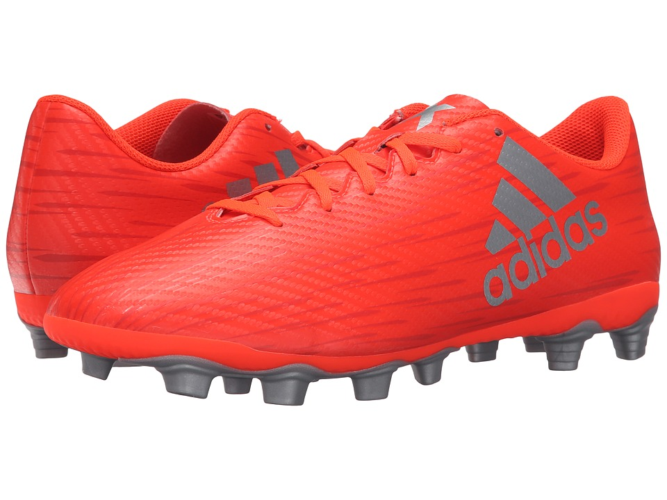 adidas - X 16.4 FxG (Solar Red/Silver Metallic/Hi-Res Red) Men's Cleated Shoes