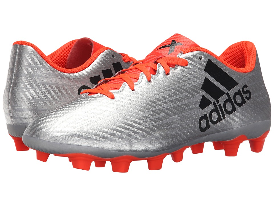 adidas - X 16.4 FxG (Silver Metallic/Black/Solar Red) Men's Cleated Shoes