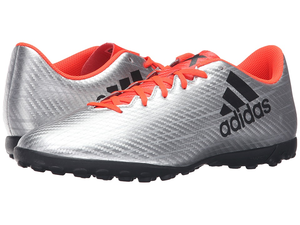 adidas - X 16.4 TF (Silver Metallic/Black/Solar Red) Men's Soccer Shoes