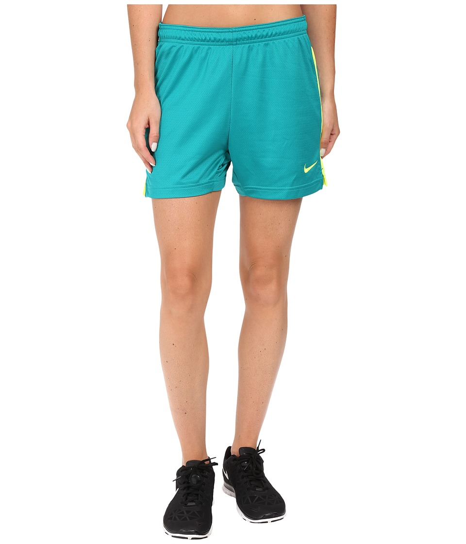 Nike Dri-FIT Academy Knit Shorts (Rio Teal/Volt/Volt) Women