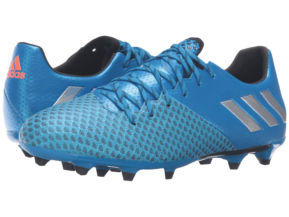 adidas - Messi 16.2 FG (Shock Blue/Matte Silver/Black) Men's Cleated Shoes