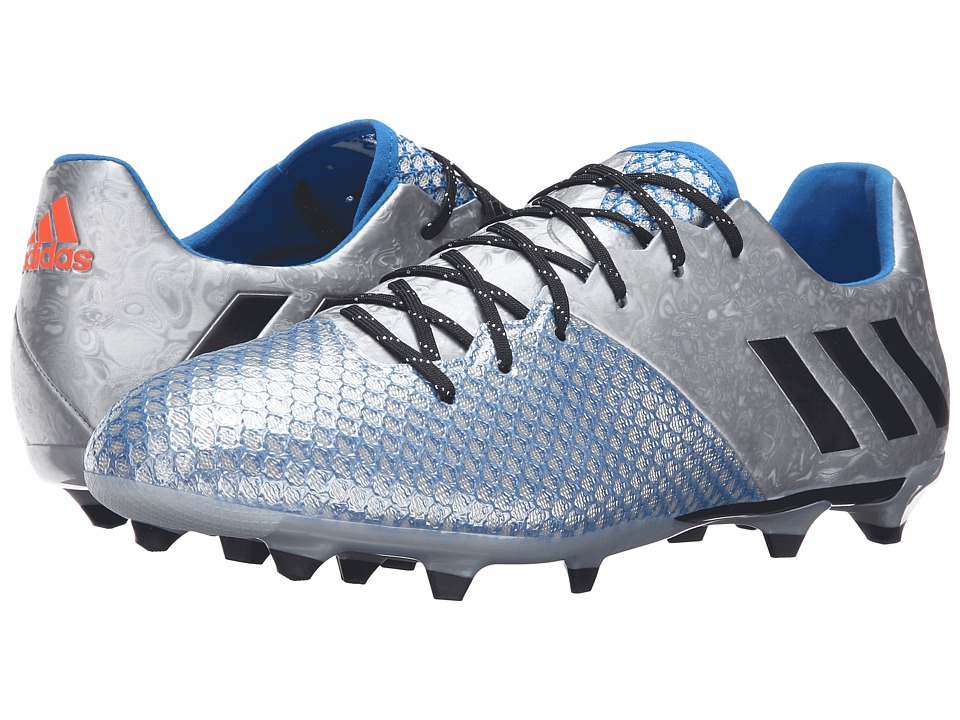 adidas - Messi 16.2 FG (Silver Metallic/Black/Shock Blue) Men's Cleated Shoes