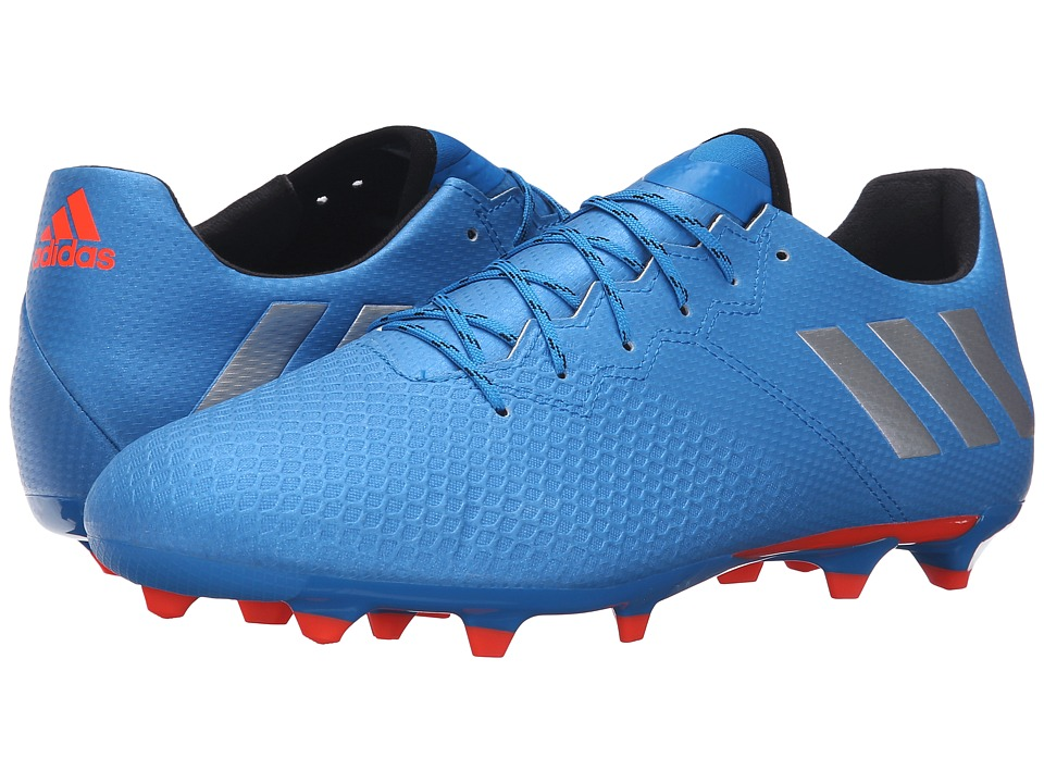 adidas - Messi 16.3 FG (Shock Blue/Matte Silver/Black) Men's Cleated Shoes
