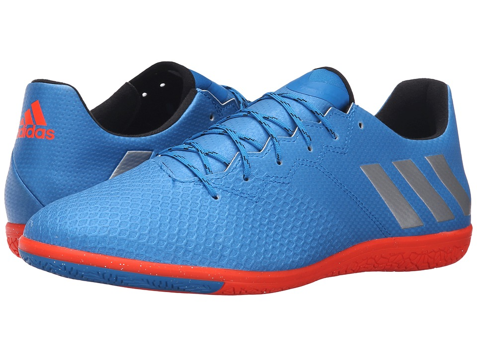 adidas - Messi 16.3 IN (Shock Blue/Matte Silver/Black) Men's Soccer Shoes