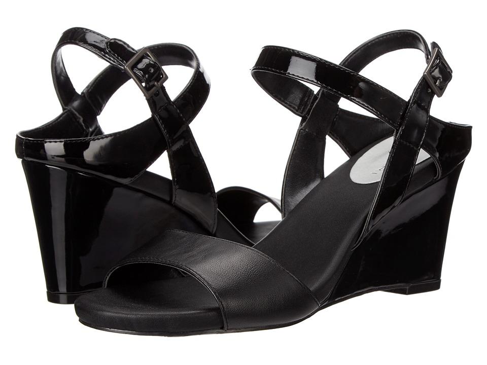 Tahari - Fun (Black/Black Patent/Silk) Women's Shoes