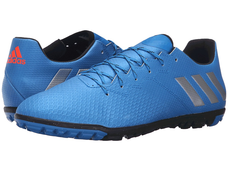 adidas - Messi 16.3 TF (Shock Blue/Matte Silver/Black) Men's Soccer Shoes