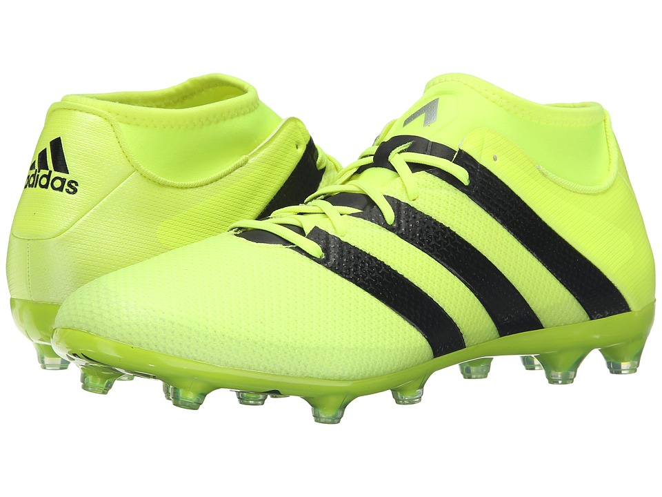 adidas - Ace 16.2 Primemesh FG/AG (Solar Yellow/Black/Silver Metallic) Men's Cleated Shoes