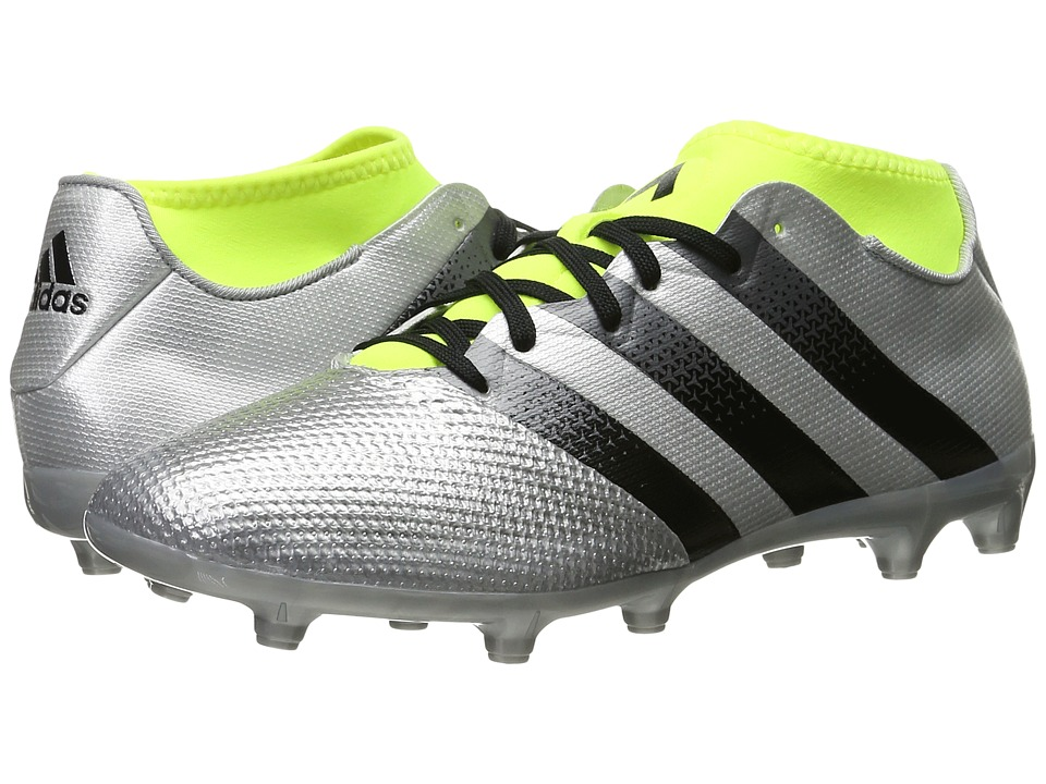 adidas - Ace 16.3 Primemesh FG/AG (Silver Metallic/Black/Solar Yellow) Men's Soccer Shoes