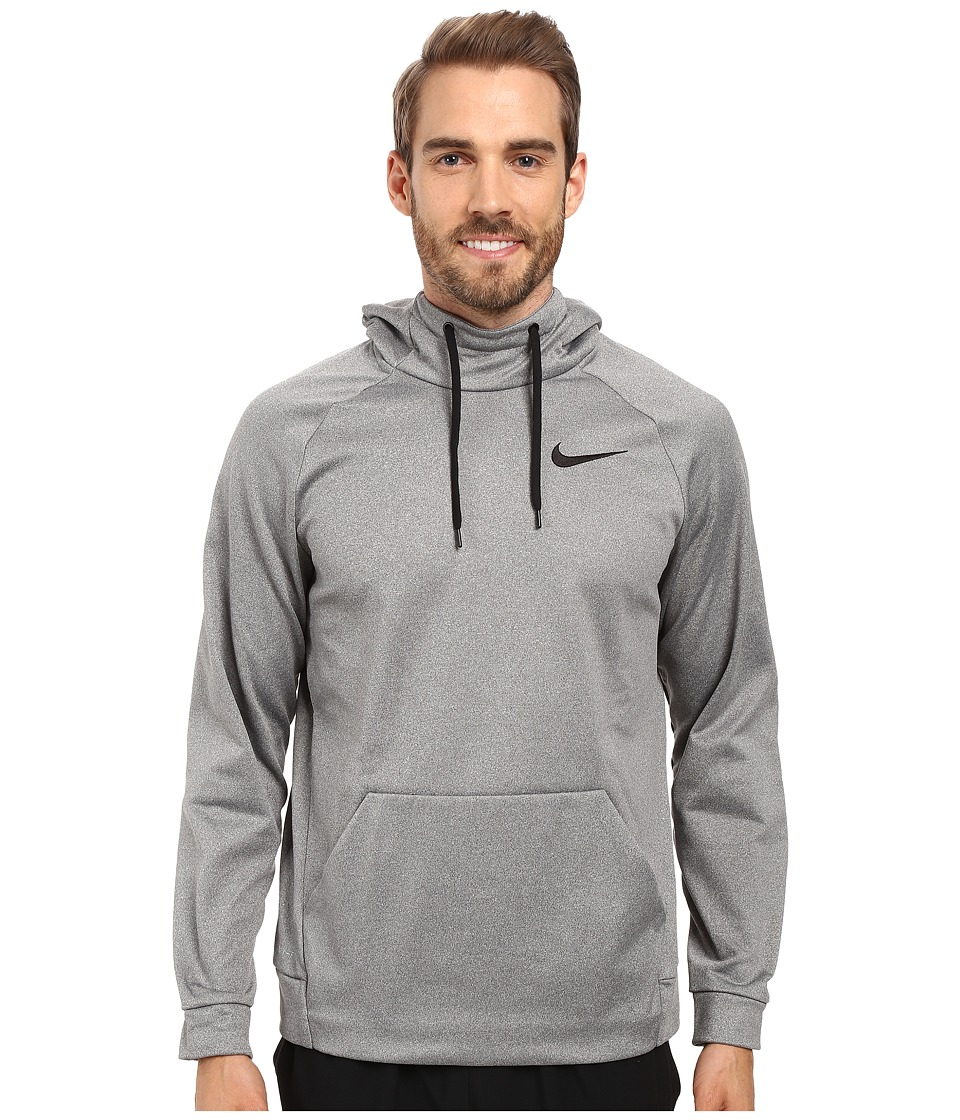 Nike Therma Pullover Training Hoodie (Carbon Heather/Black) Men