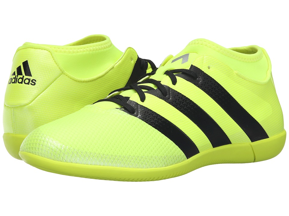adidas - Ace 16.3 Primemesh IN (Solar Yellow/Black/Silver Metallic) Men's Soccer Shoes