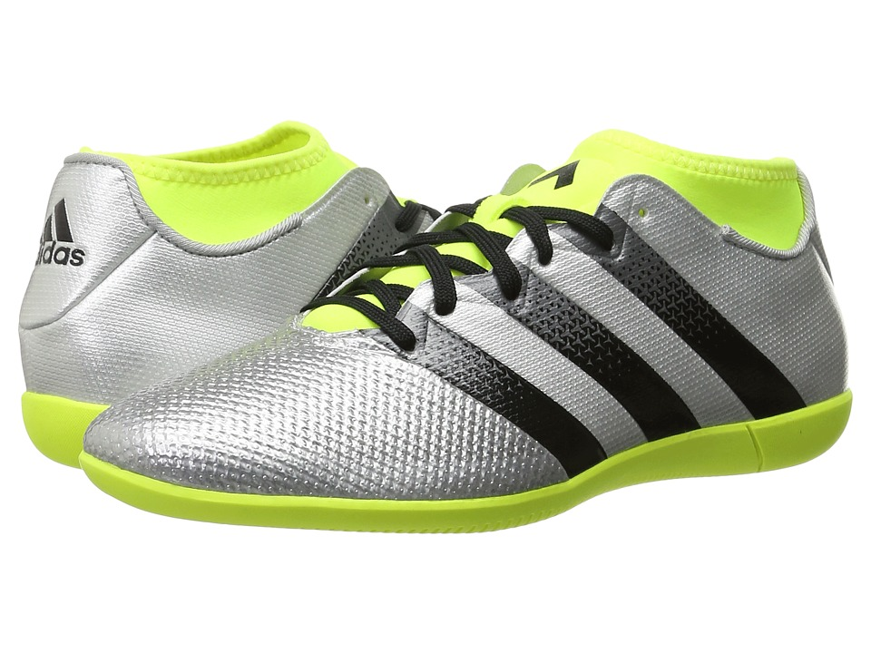 adidas - Ace 16.3 Primemesh IN (Silver Metallic/Black/Solar Yellow) Men's Soccer Shoes
