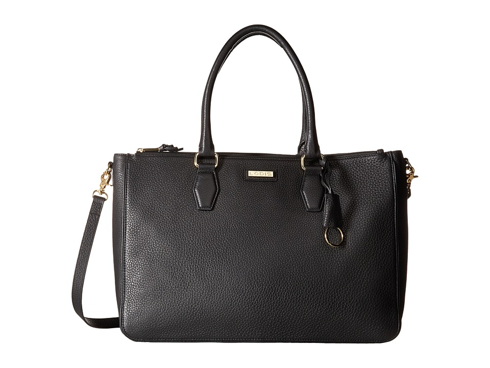 Lodis Accessories - Gayle Commuter Tote (Black) Tote Handbags