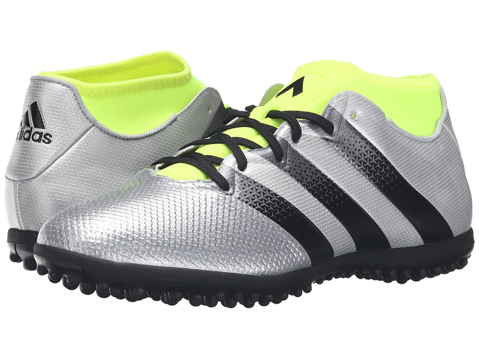 adidas - Ace 16.3 Primemesh TF (Silver Metallic/Black/Solar Yellow) Men's Soccer Shoes