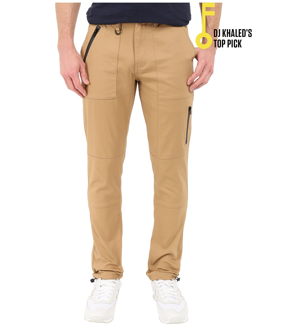 Publish - Londen - Coated Brushed Stretch Twill (Khaki) Men's Casual Pants
