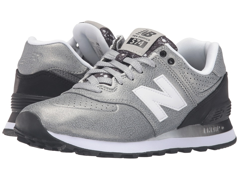 New Balance Classics - WL574Bv1 (Silver/Black) Women's Shoes