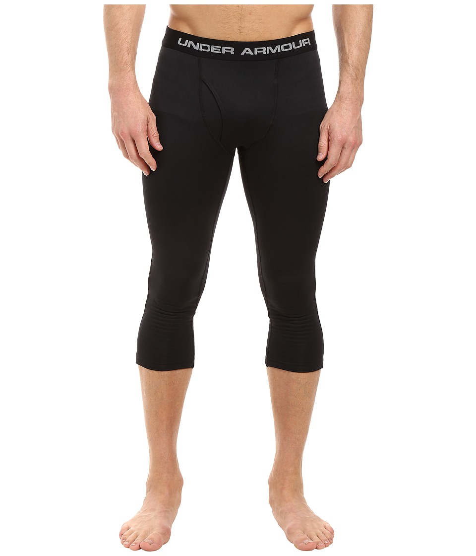 Under Armour - UA Base 2.0 3/4 Leggings (Black/Steel) Men's Casual Pants