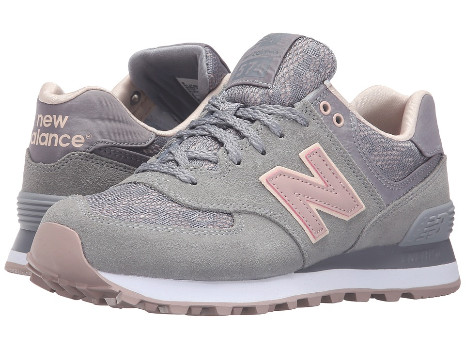 New Balance Classics - WL574 - Nouveau Lace (Steel/Charm) Women's Running Shoes