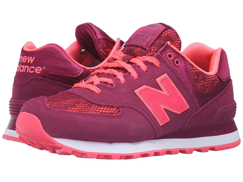 New Balance Classics - WL574 - Nouveau Lace (Deep Jewel/Nebula) Women's Running Shoes
