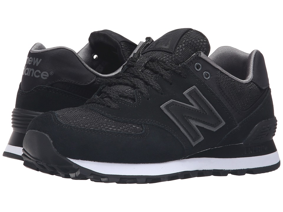 New Balance Classics - WL574 - Nouveau Lace (Black/Castlerock) Women's Running Shoes