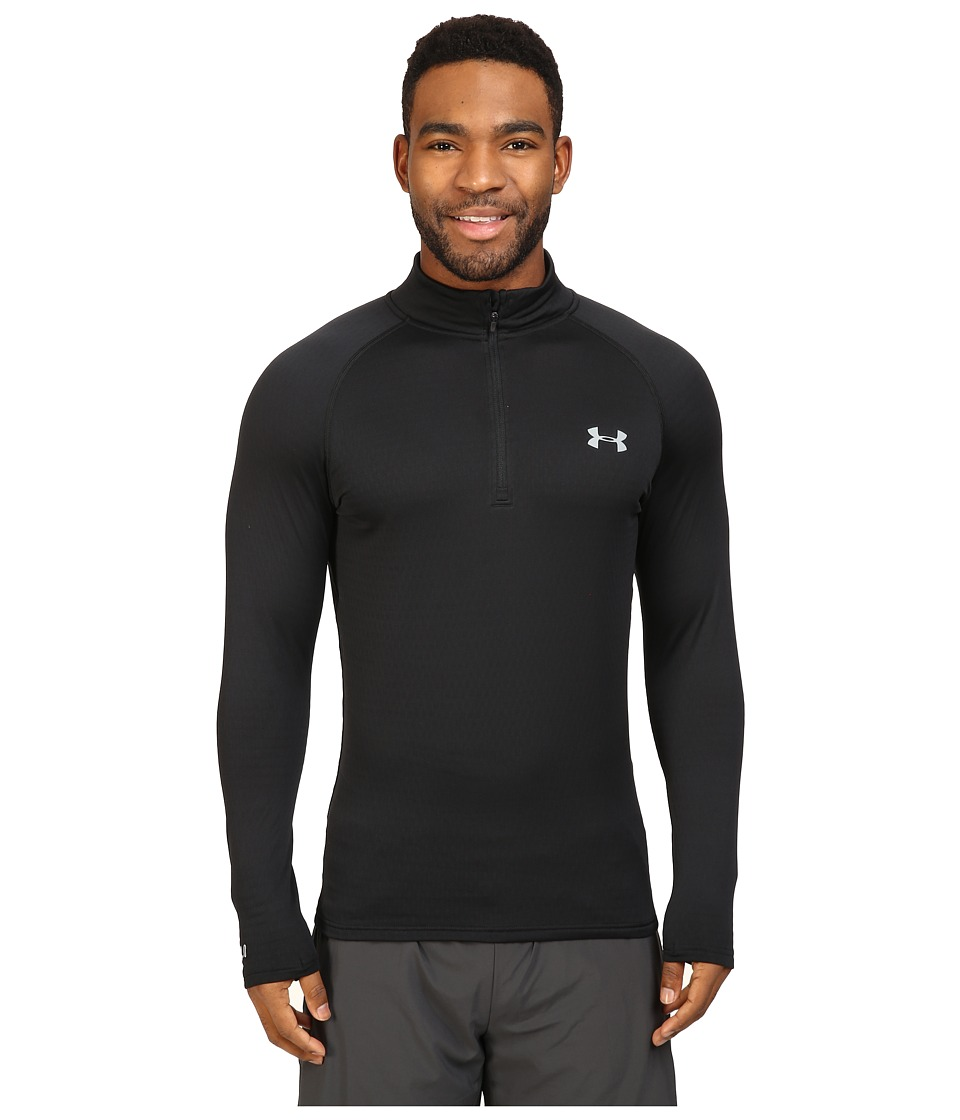 Under Armour - UA Base 2.0 1/4 Zip (Black/Steel) Men's Clothing