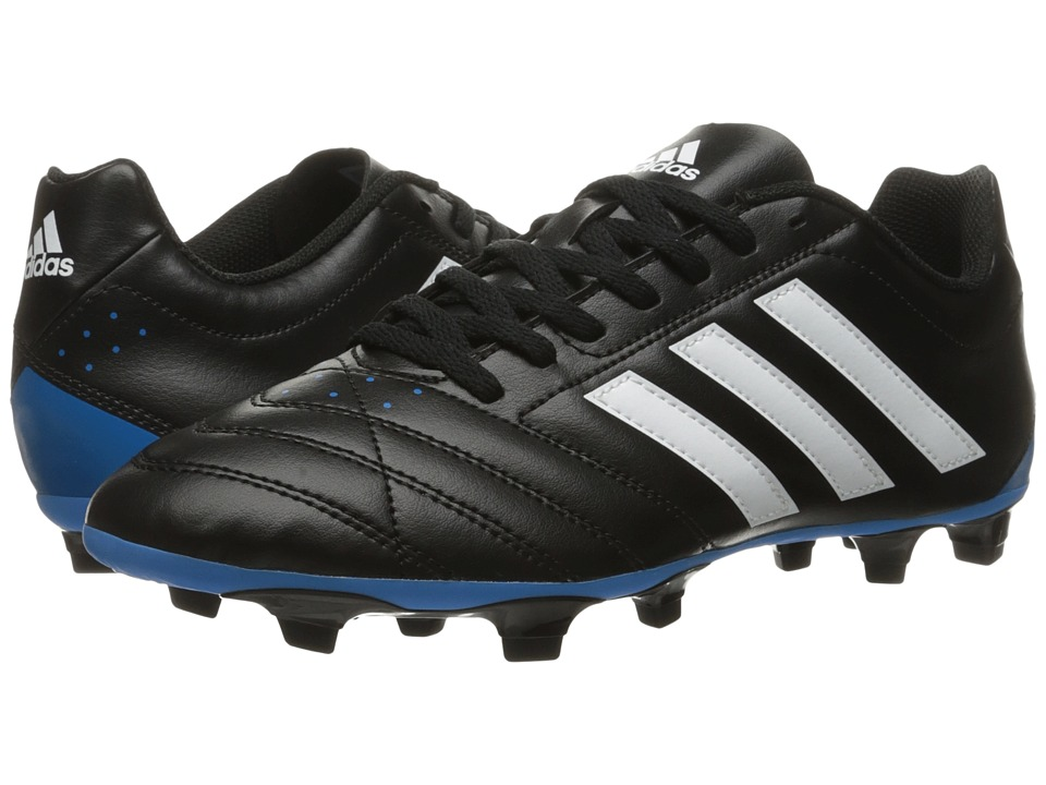 adidas - Goletto V FG (Black/White/Solar Blue2) Men's Cleated Shoes