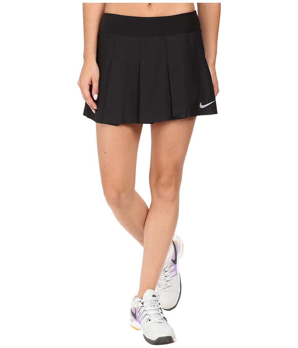 Nike - Court Power Premier Tennis Skirt (Black/White) Women's Skirt
