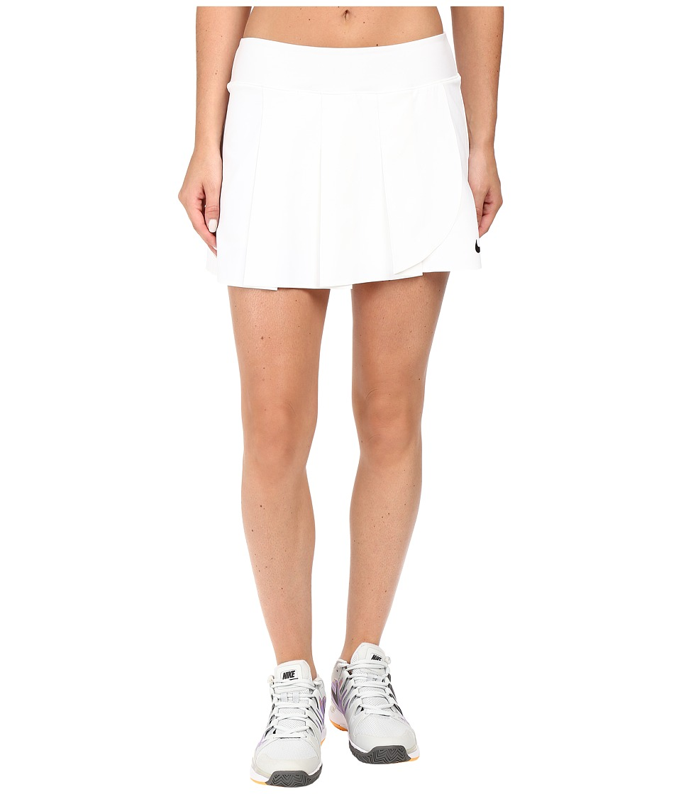 Nike - Court Power Premier Tennis Skirt (White/Black) Women's Skirt