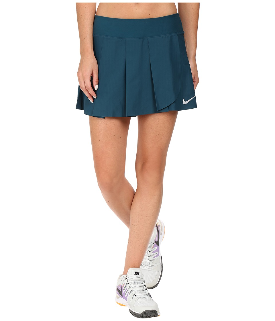 Nike - Court Power Premier Tennis Skirt (Midnight Navy/White) Women's Skirt