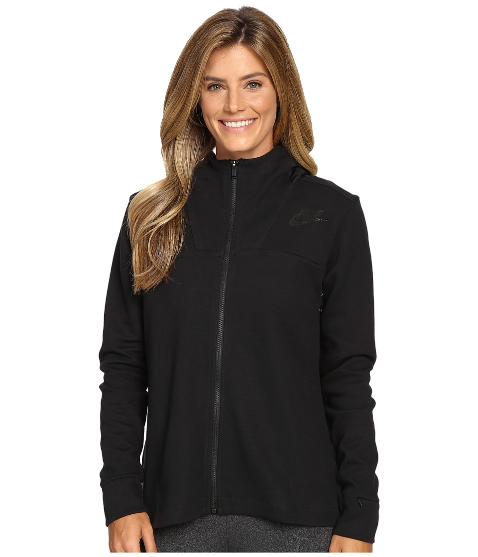 Nike - Advantage 15 Fleece Cape (Black/Black/Black) Women's Fleece