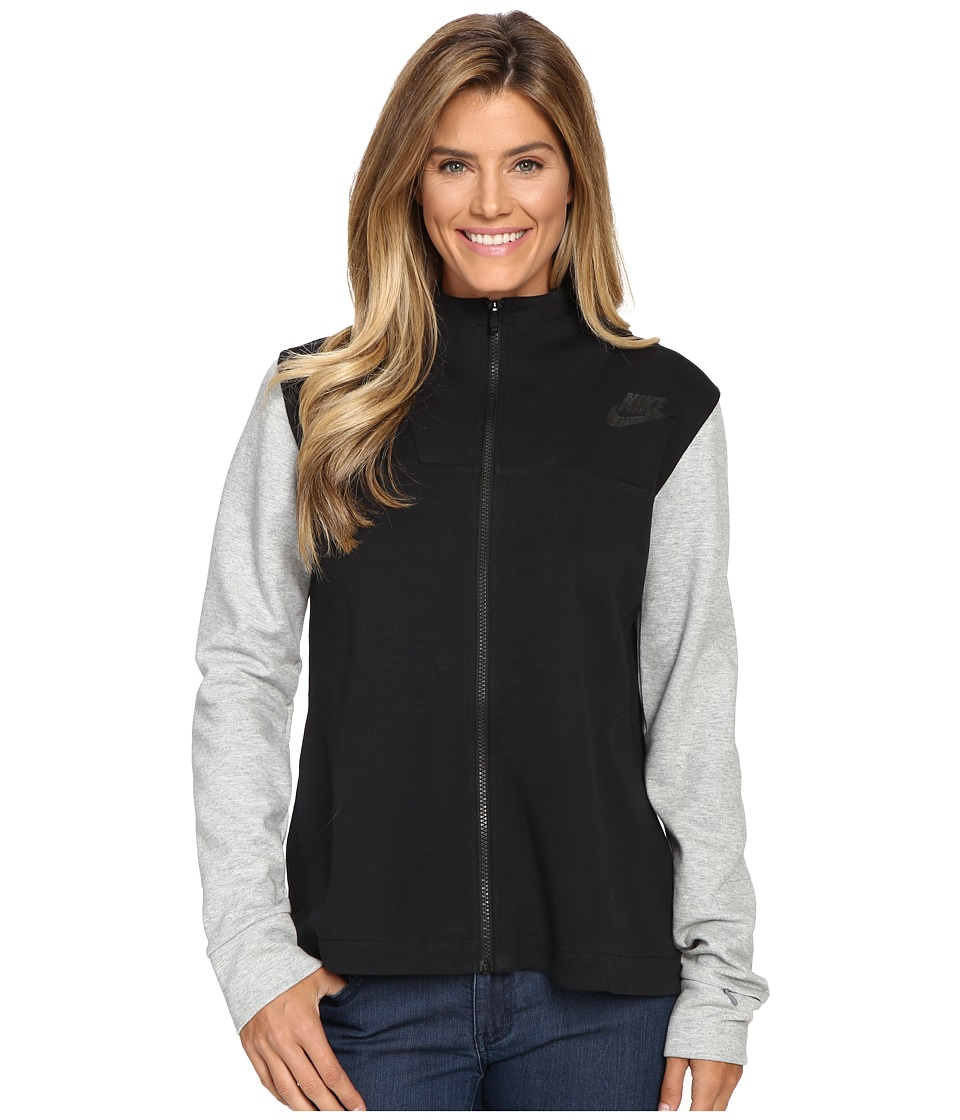 Nike - Advantage 15 Fleece Cape (Black/Black/Dark Grey Heather/Black) Women's Fleece