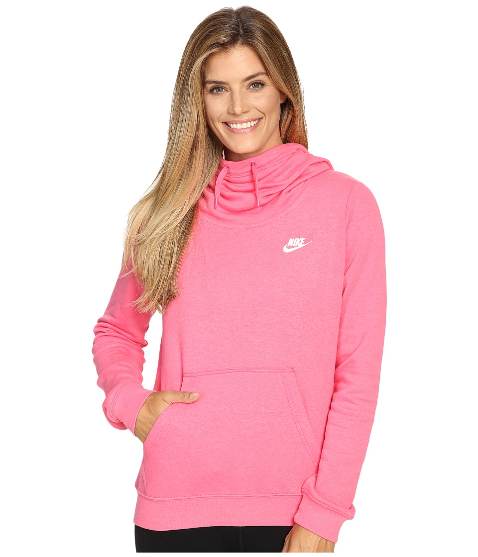 Nike - NSW Funnel Fleece (Dynamic Pink/Dynamic Pink/White) Women's Fleece