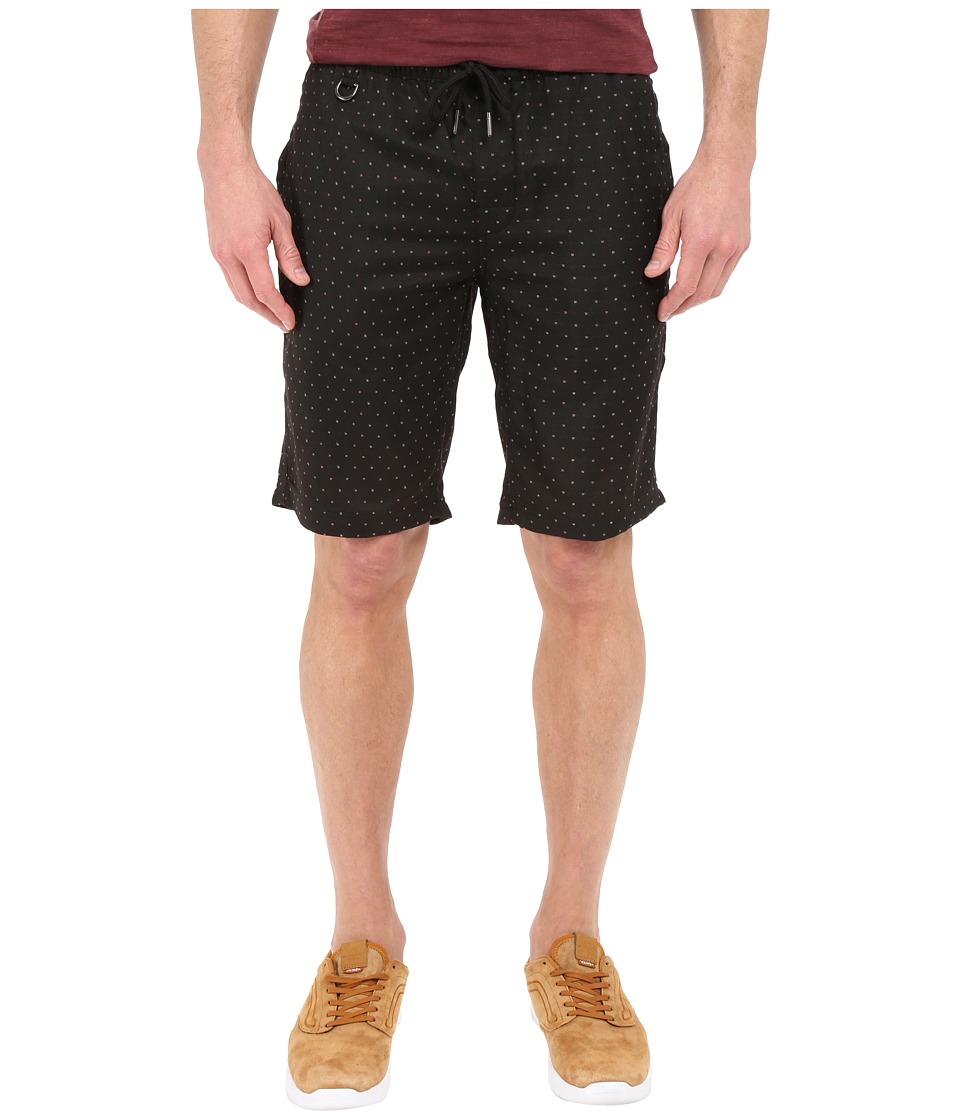 Publish - Hugo - Jacquard Speckled Stretch Woven Shorts (Black) Men's Shorts