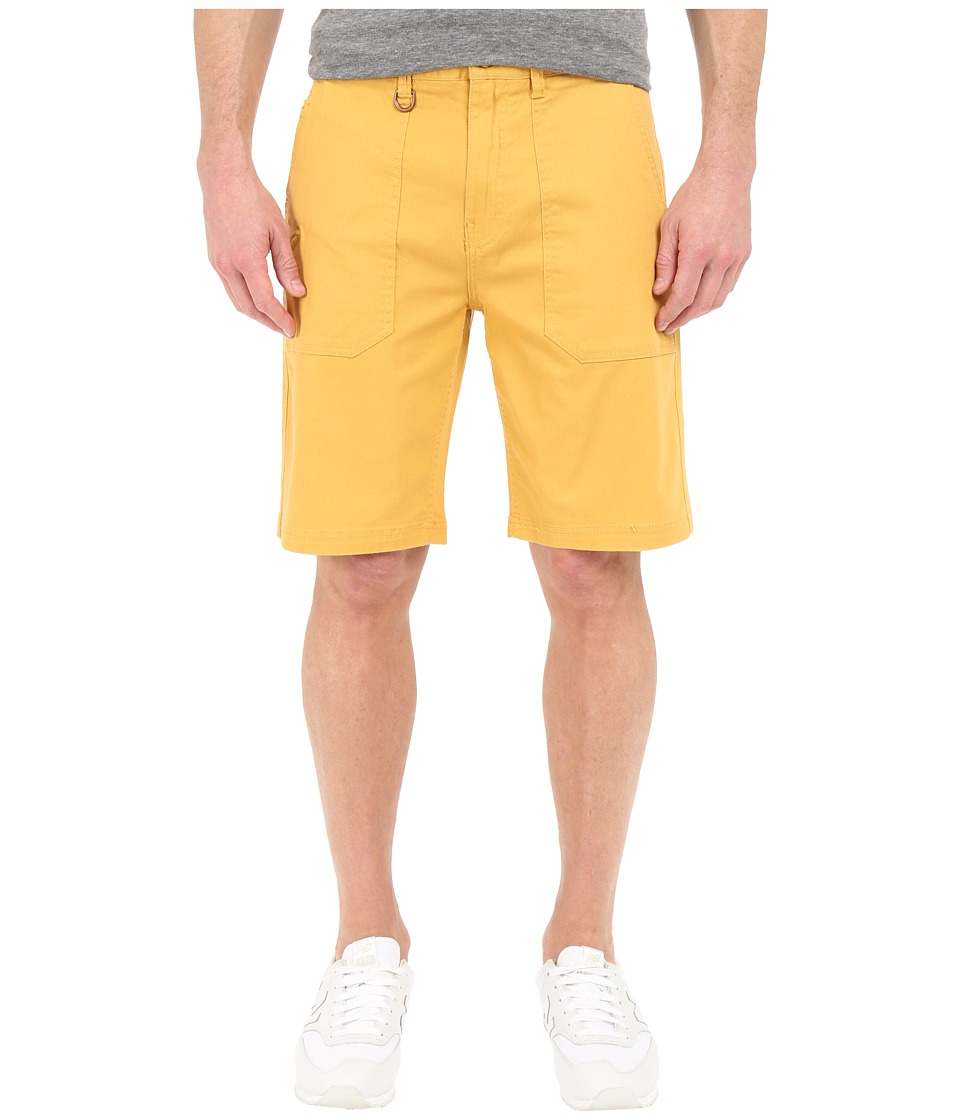 Publish Kea Washed Out Stretch Twill On Military Patch Pocket Shorts (Mustard) Men