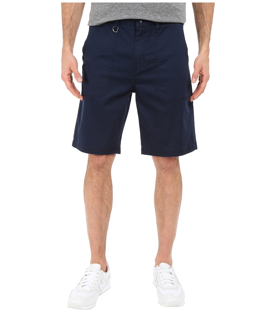 Publish - Kea - Washed Out Stretch Twill On Military Patch Pocket Shorts (Navy) Men's Shorts