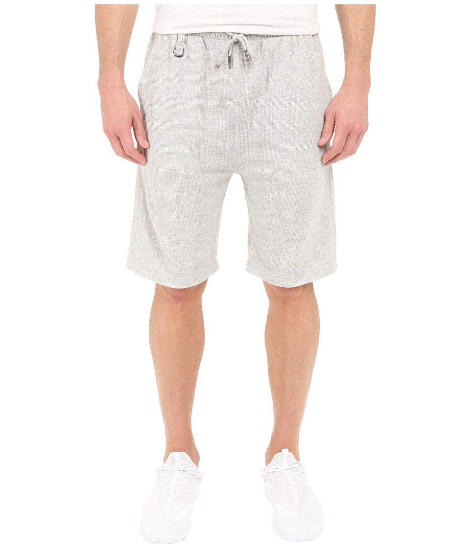 Publish - Kieran - Two-Tone Heathered Terry Elastic Drawstring Shorts (Heather) Men's Shorts