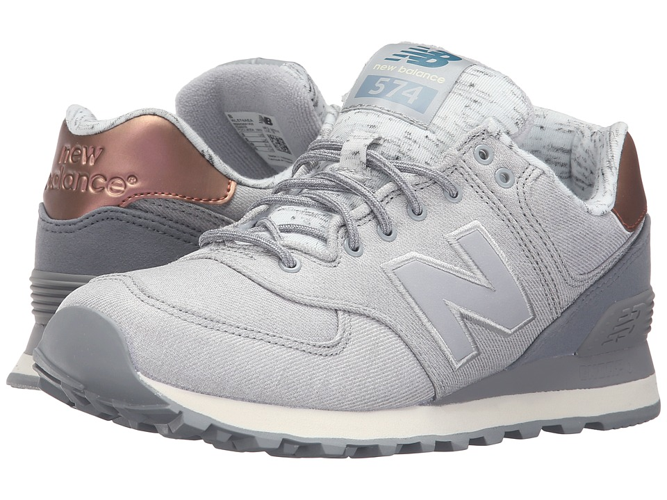 New Balance Classics - WL574 (Silver Mink/Steel) Women's Lace up casual Shoes