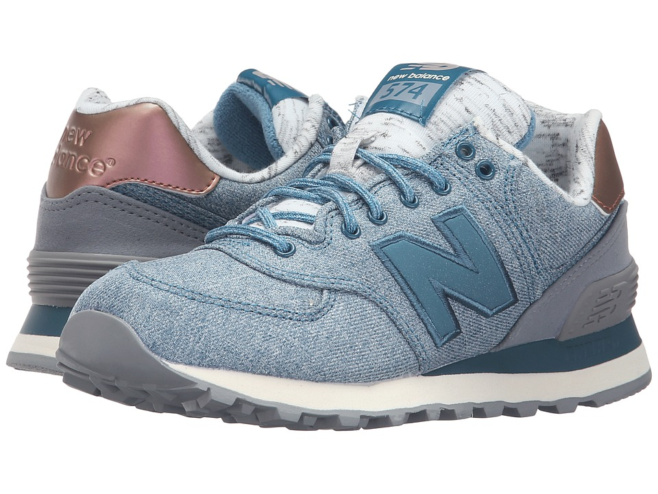 New Balance Classics - WL574 (Jet Stream/Steel) Women's Lace up casual Shoes